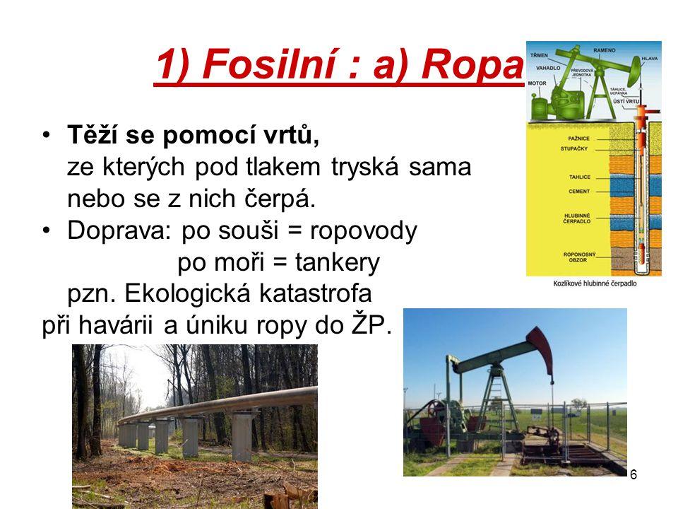17 Produkty ropy a jejich význam: