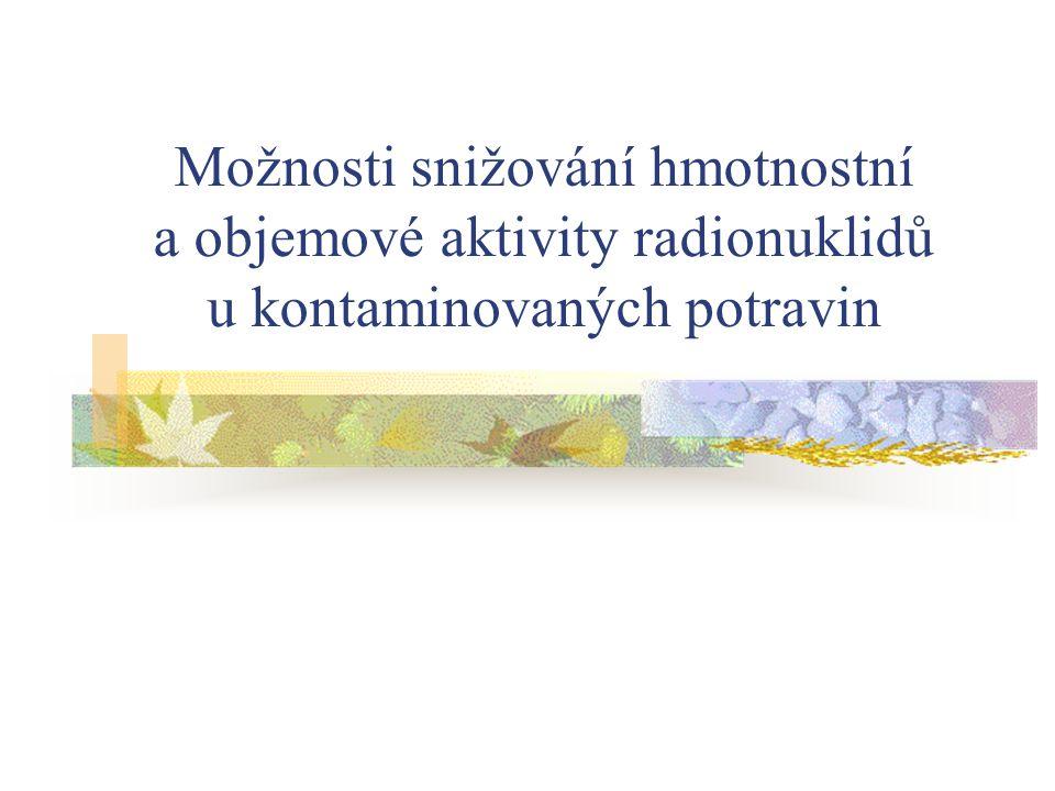 Legislativa týkající se ozařování potravin Směrnice č.