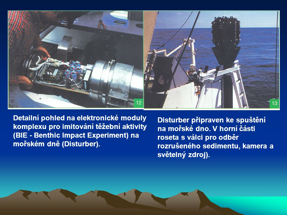 Detailní pohled na elektronické moduly komplexu pro imitování těžební aktivity (BIE - Benthic Impact Experiment) na mořském dně (Disturber). Disturber