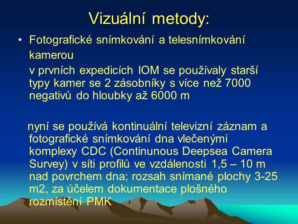 Vizuální metody: Fotografické snímkování a telesnímkování kamerou v prvních expedicích IOM se používaly starší typy kamer se 2 zásobníky s více než 70