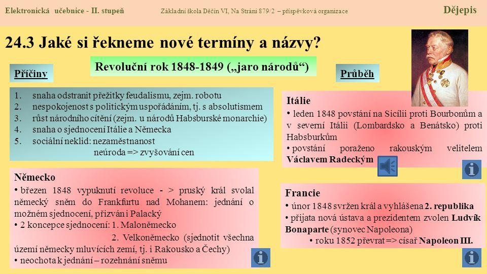24.2 Co již víme? Elektronická učebnice - II. stupeň Základní škola Děčín VI, Na Stráni 879/2 – příspěvková organizace Dějepis Obranná (konsolidační)