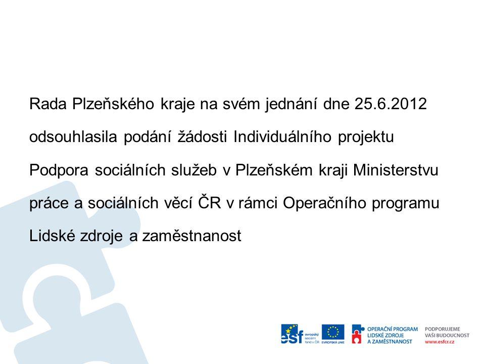 Druhá etapa IP umožní podporu služeb sociální prevence až do roku 2014 Předpokládaná doba poskytování sociálních služeb je období leden až prosinec 2014 na území Plzeňského kraje (dále jen PK)