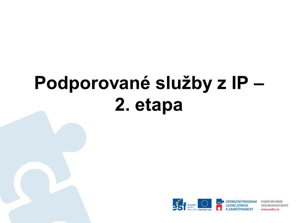 Hlavní body Kritéria pro výběr varianty Podpořené sociální služby v IP – 2.