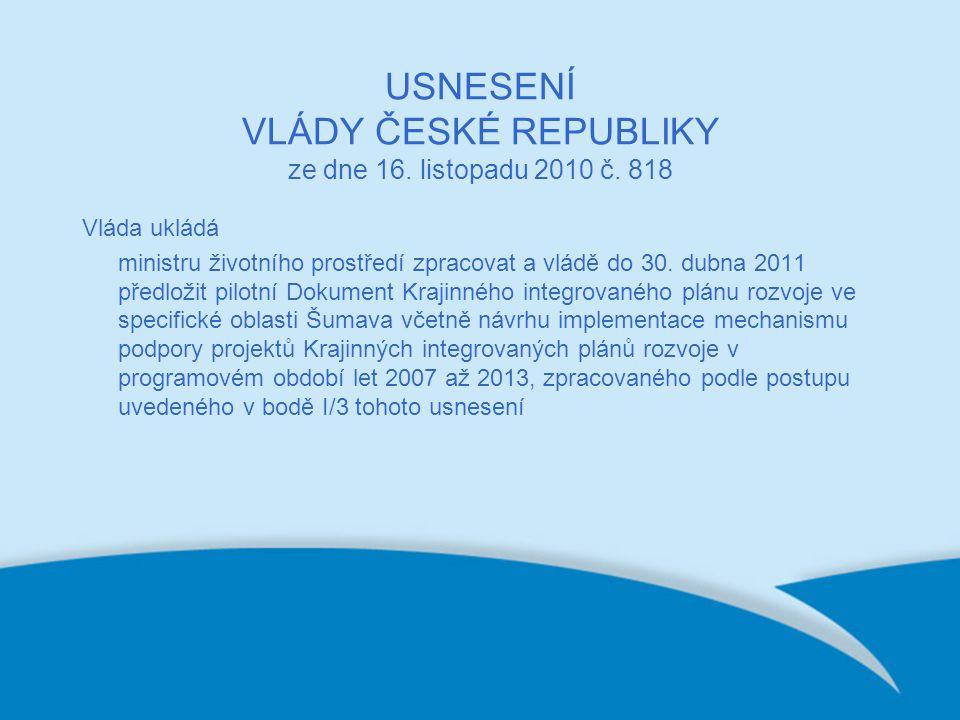 USNESENÍ VLÁDY ČESKÉ REPUBLIKY ze dne 16. listopadu 2010 č.