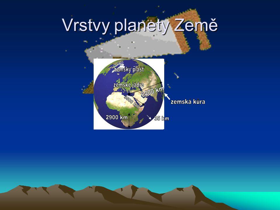 Litosféra = kamenný obal Země pevný obal Země (pod litosférou je hmota z důvodu vysoké teploty polotekutá) je tvořena zemskou kůrou a svrchní částí zemského pláště