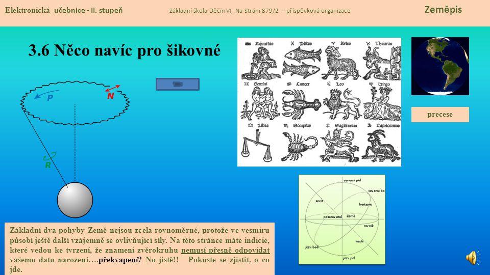 3.6 Něco navíc pro šikovné Elektronická učebnice - II. stupeň Základní škola Děčín VI, Na Stráni 879/2 – příspěvková organizace Zeměpis Základní dva p