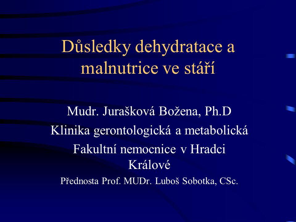 Důsledky dehydratace a malnutrice ve stáří Mudr.