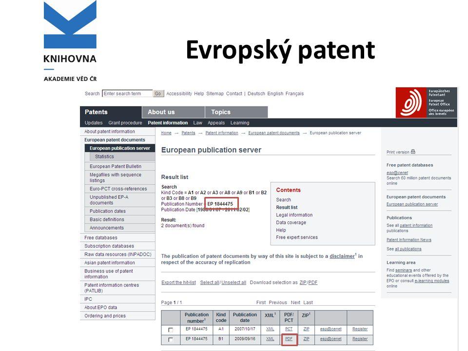 Evropský patent