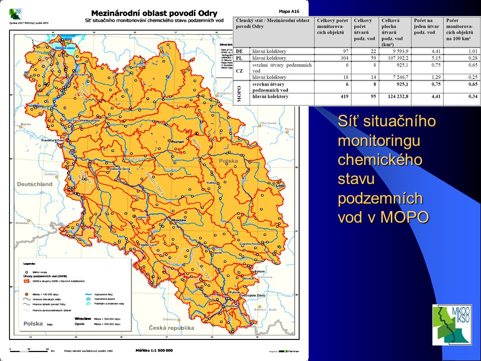 Interní seminář VÚV TGM, v.v.i. Praha 20.3.2008 Síť situačního monitoringu chemického stavu podzemních vod v MOPO