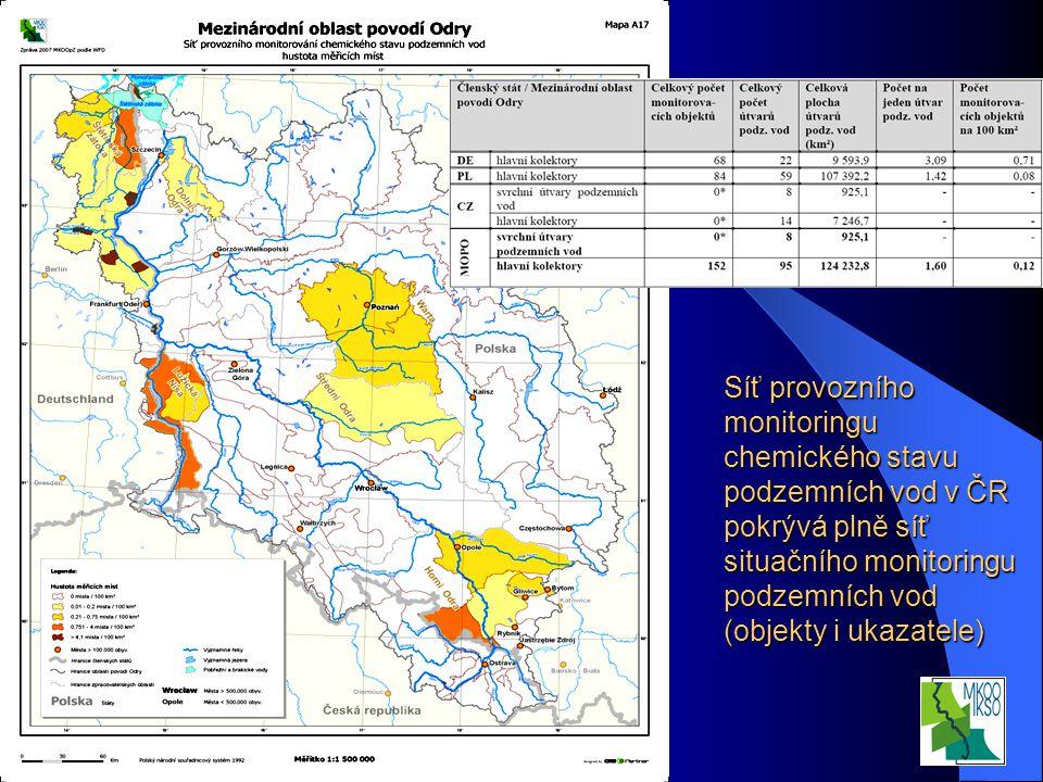 Interní seminář VÚV TGM, v.v.i. Praha 20.3.2008 Síť provozního monitoringu chemického stavu podzemních vod v ČR pokrývá plně síť situačního monitoring