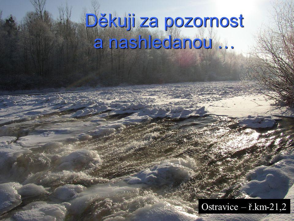 Interní seminář VÚV TGM, v.v.i. Praha 20.3.2008 Děkuji za pozornost a nashledanou … Ostravice – ř.km-21,2
