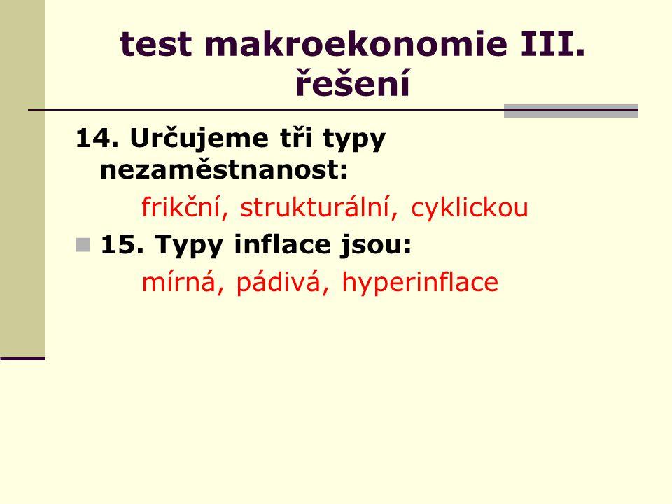 test makroekonomie III. řešení 14.