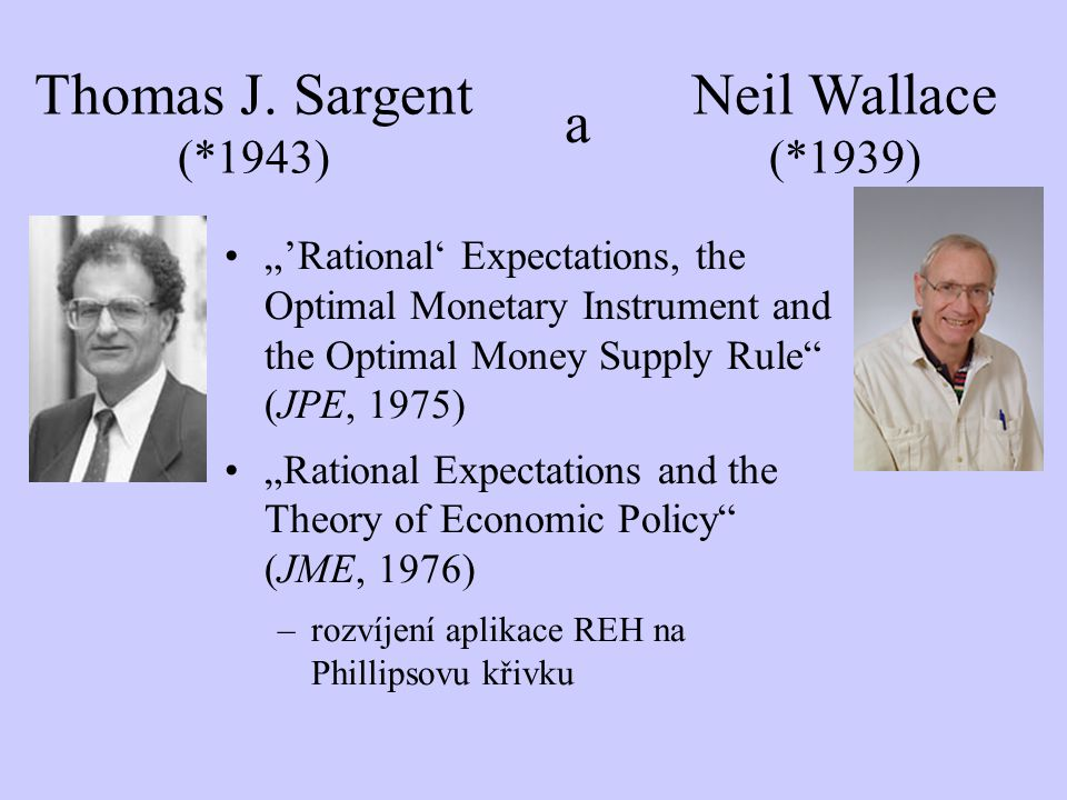 """'Rational' Expectations, the Optimal Monetary Instrument and the Optimal Money Supply Rule"" (JPE, 1975) ""Rational Expectations and the Theory of Econ"