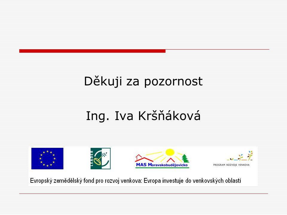 Děkuji za pozornost Ing. Iva Kršňáková
