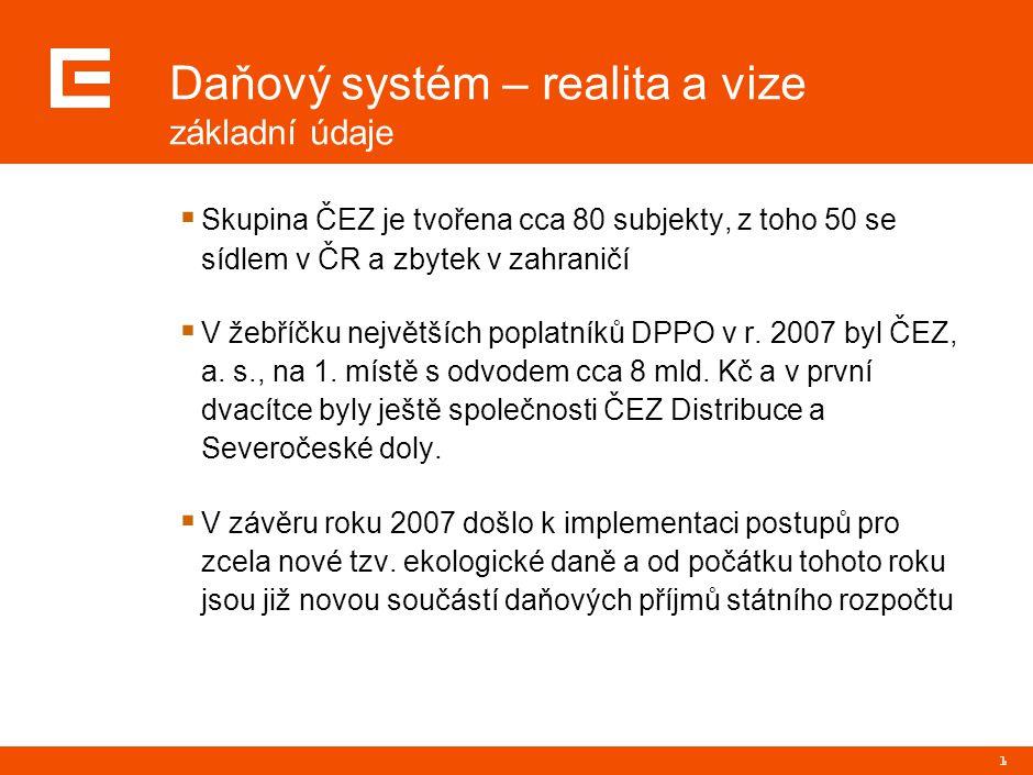 2 Daňový systém – realita a vize přínosy daňové reformy  Snížení sazby DPPO pro následující roky se projevilo mj.