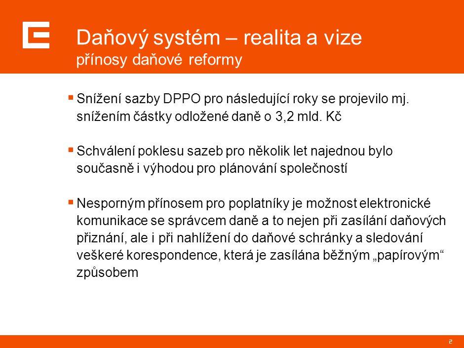 3 Daňový systém – realita a vize příležitosti ke zlepšení  Rozšíření editační povinnosti – např.