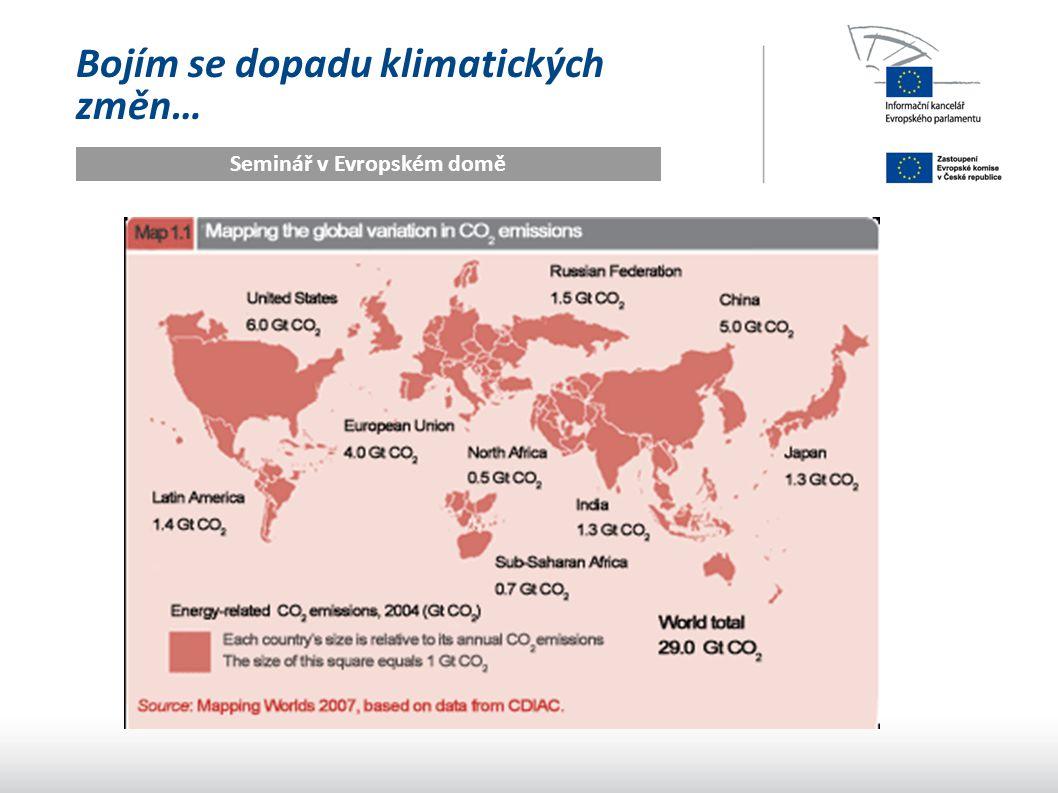 Bojím se dopadu klimatických změn… Seminář v Evropském domě