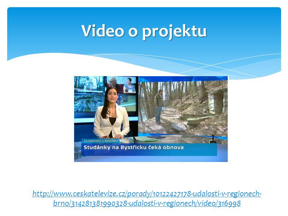 Video o projektu http://www.ceskatelevize.cz/porady/10122427178-udalosti-v-regionech- brno/314281381990328-udalosti-v-regionech/video/316998