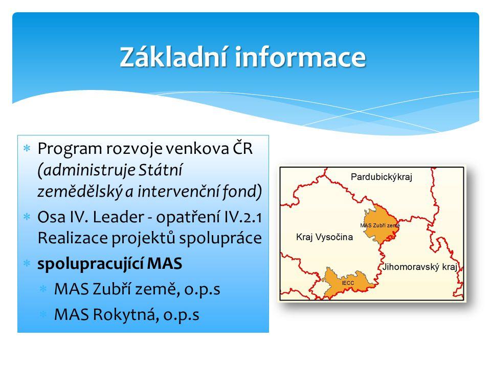  Program rozvoje venkova ČR (administruje Státní zemědělský a intervenční fond)  Osa IV.