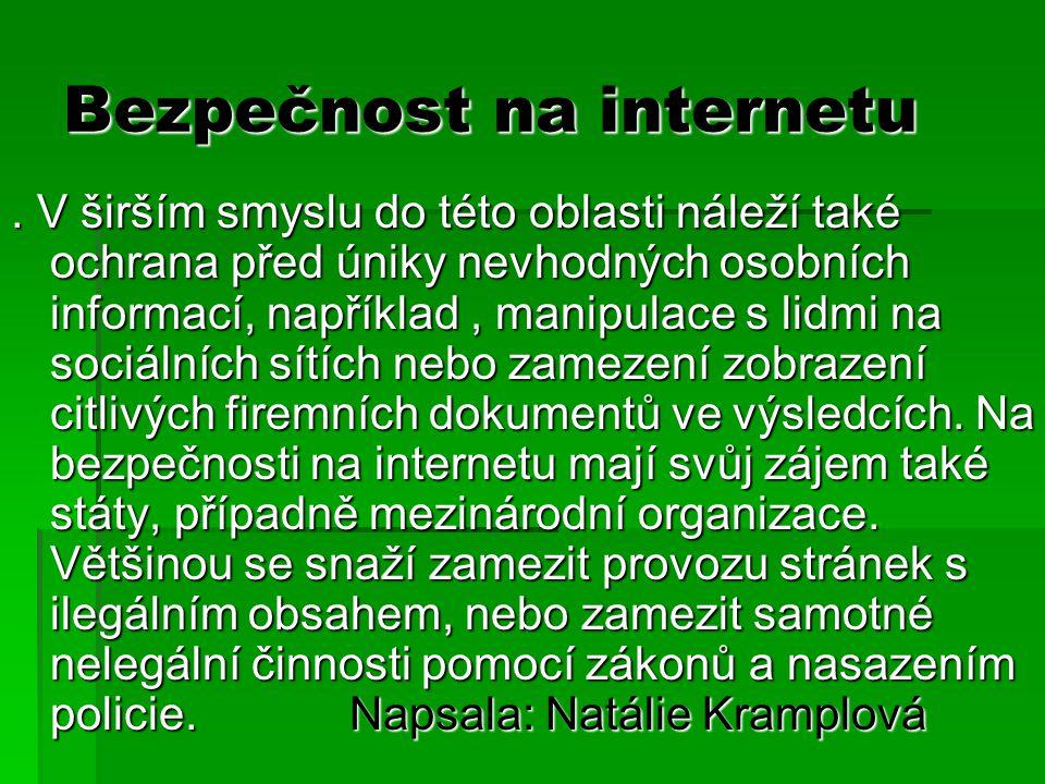 Bezpečnost na internetu.