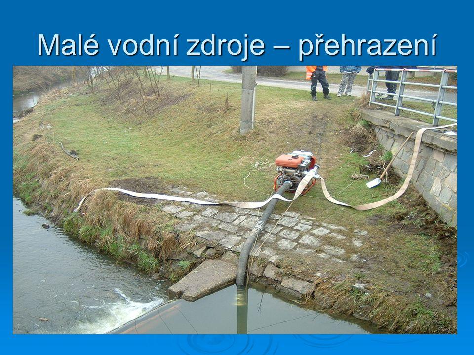 Malé vodní zdroje – přehrazení