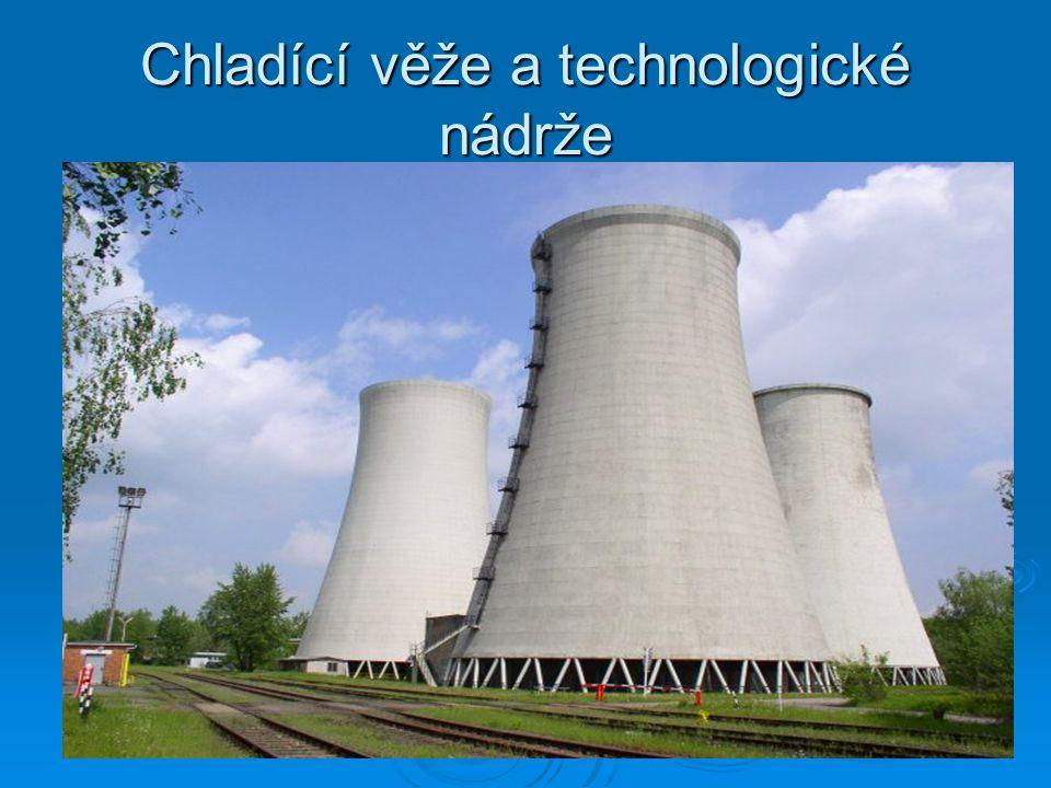 Chladící věže a technologické nádrže