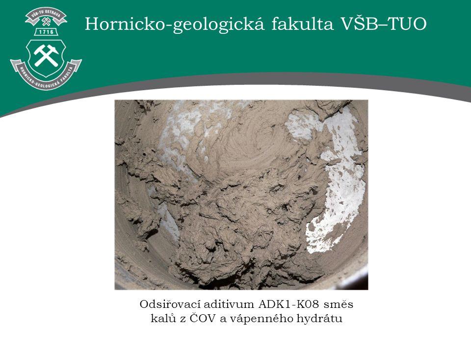 Hornicko-geologická fakulta VŠB–TUO Odsiřovací aditivum ADK1-K08 směs kalů z ČOV a vápenného hydrátu
