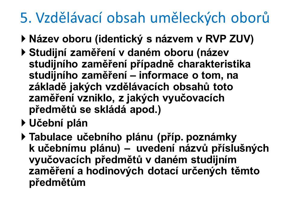  Název oboru (identický s názvem v RVP ZUV)  Studijní zaměření v daném oboru (název studijního zaměření případně charakteristika studijního zaměření