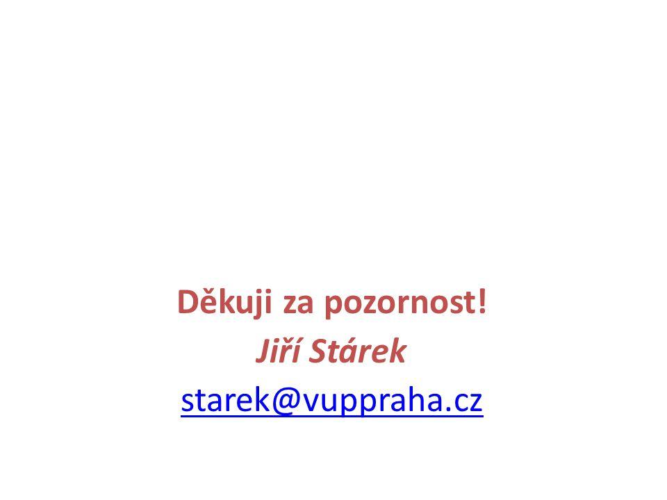 Děkuji za pozornost! Jiří Stárek starek@vuppraha.cz
