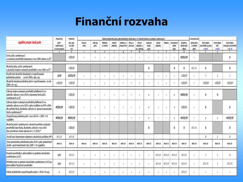 Finanční rozvaha