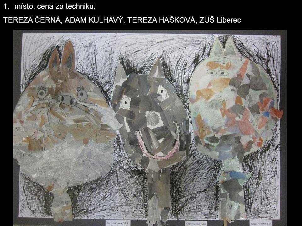 1.místo, cena za techniku: TEREZA ČERNÁ, ADAM KULHAVÝ, TEREZA HAŠKOVÁ, ZUŠ Liberec