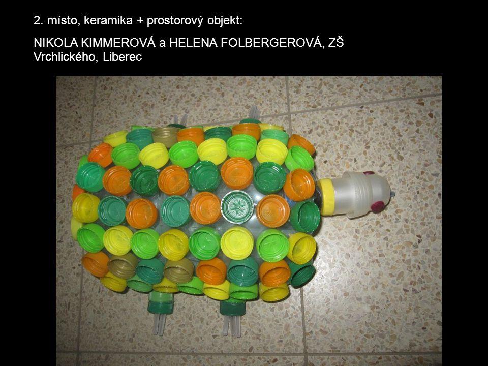 2. místo, keramika + prostorový objekt: NIKOLA KIMMEROVÁ a HELENA FOLBERGEROVÁ, ZŠ Vrchlického, Liberec