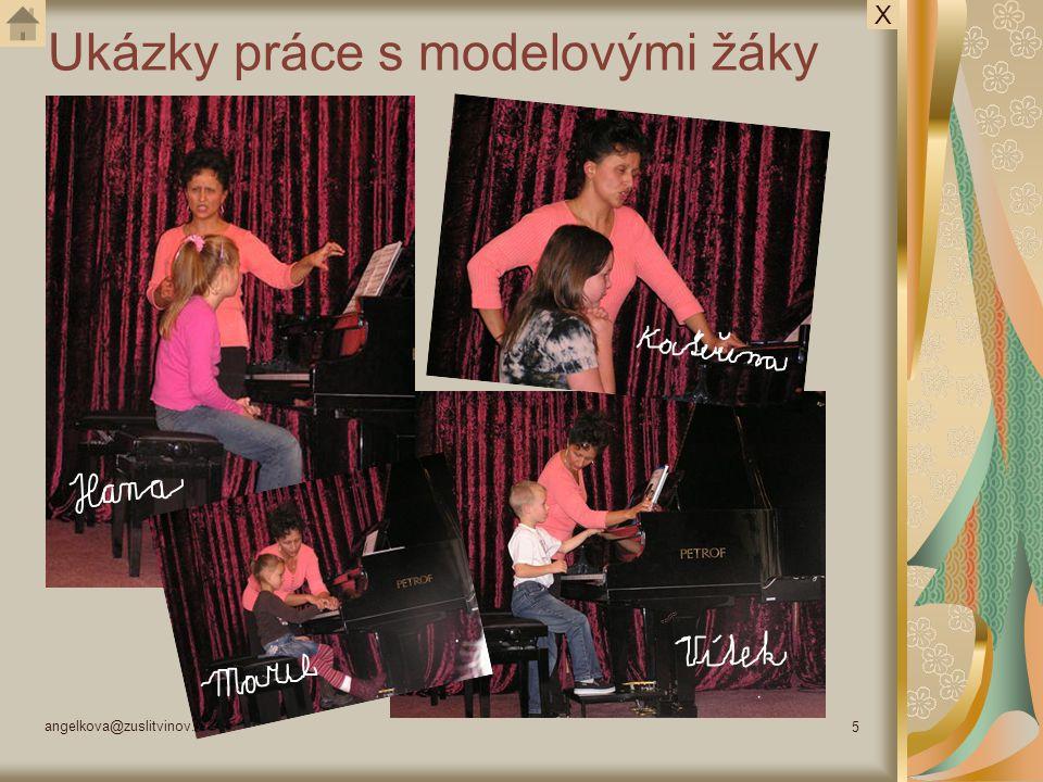 angelkova@zuslitvinov.cz 5 Ukázky práce s modelovými žáky X