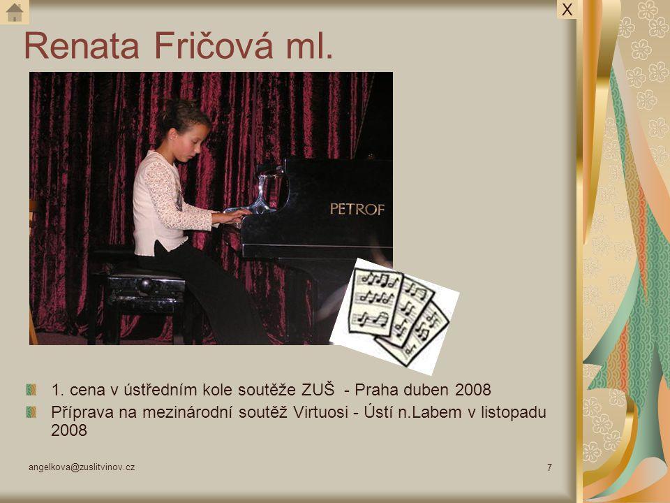 angelkova@zuslitvinov.cz 8 Seminář 2 – neděle 5.října 2008 Lektor: Doc.