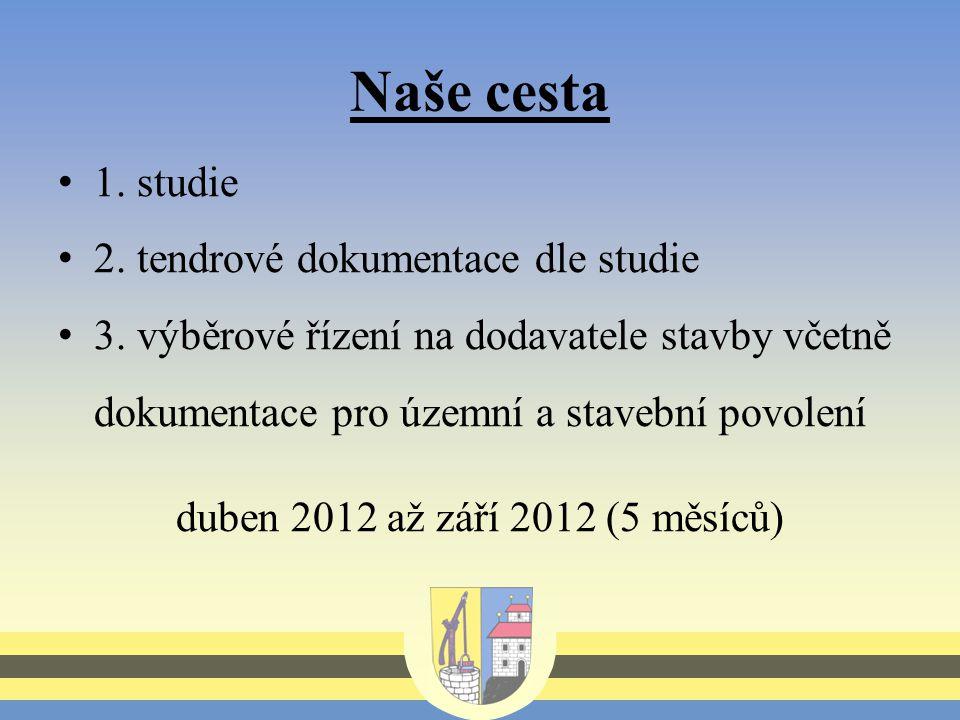 Naše cesta 1. studie 2. tendrové dokumentace dle studie 3.