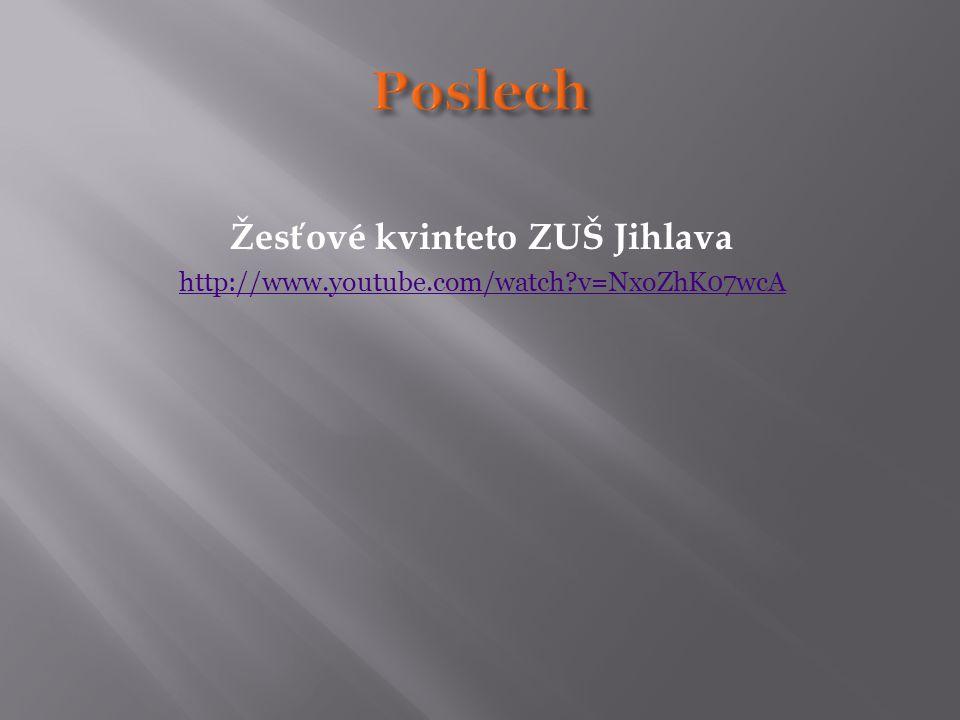 Žesťové kvinteto ZUŠ Jihlava http://www.youtube.com/watch?v=NxoZhK07wcA