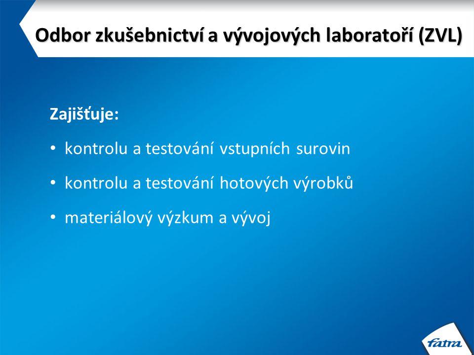 Nabídka pro externí firmy: 1)Příprava vzorků a směsí 2)Hodnocení surovin a výrobků (všechny zkušební metody dle příslušných norem) 3)Odborné poradenství a konzultace Odbor zkušebnictví a vývojových laboratoří (ZVL)