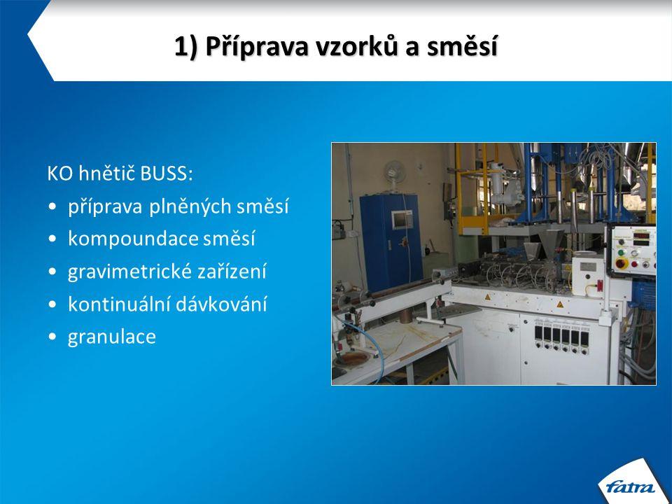 1) Příprava vzorků a směsí Linka Collin: vytlačování a laminace fólií a desek chill-roll technologie