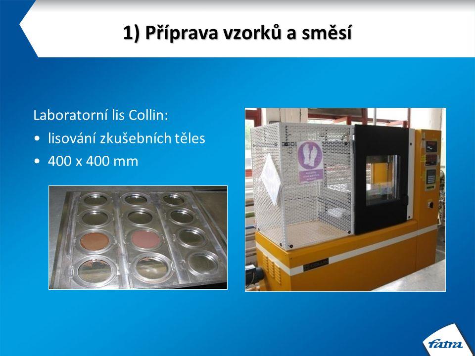 2) Hodnocení surovin a výrobků Index toku taveniny (ITT): výtlačný plastometr M 201 ČSN EN ISO 1133 Zpracovatelské vlastnosti polymerů a jejich směsí