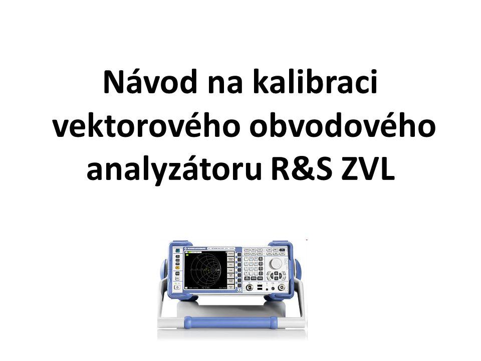 1.Nastavíme analyzátor do předem definovaného stavu (PRESET).