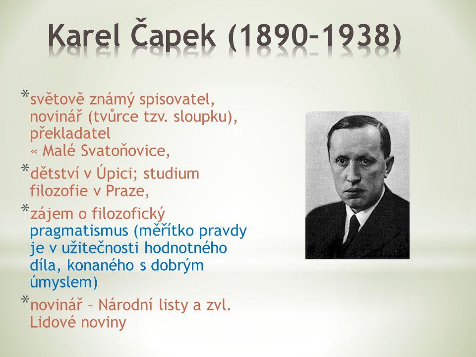 * Obrázky: * Karel Čapek.In: Wikipedia: the free encyclopedia [online].