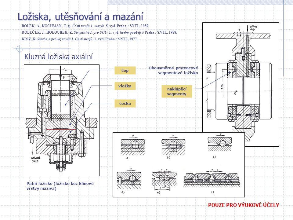 Ložiska, utěsňování a mazání BOLEK, A., KOCHMAN, J.