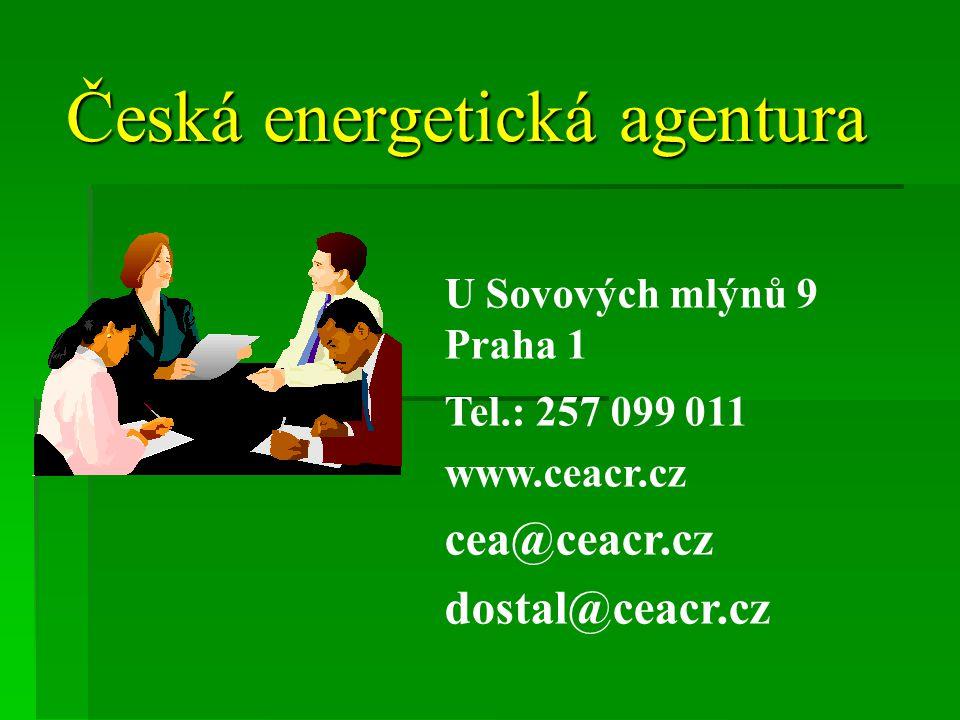 Česká energetická agentura U Sovových mlýnů 9 Praha 1 Tel.: 257 099 011 www.ceacr.cz cea@ceacr.cz dostal@ceacr.cz