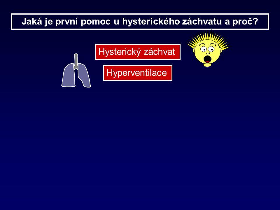 Hysterický záchvat Hyperventilace