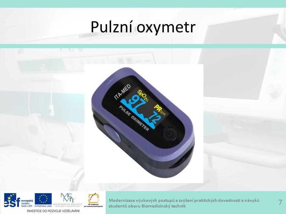 Modernizace výukových postupů a zvýšení praktických dovedností a návyků studentů oboru Biomedicínský technik Pulzní oxymetr 7