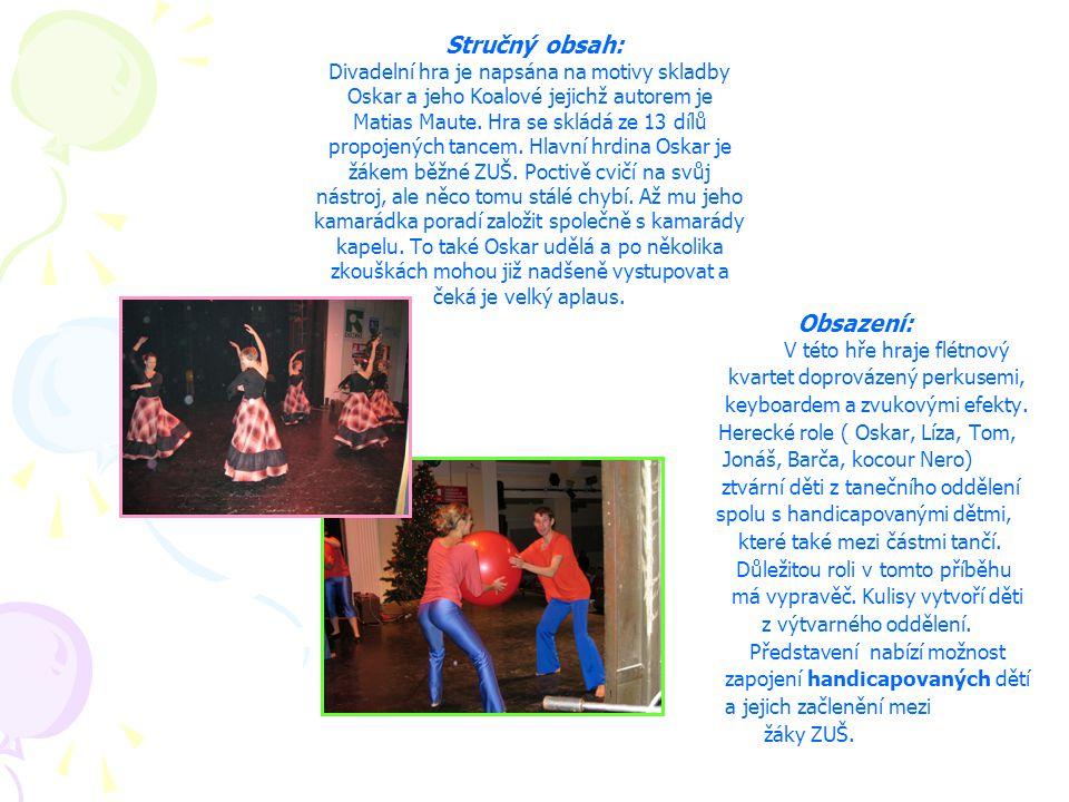Stručný obsah: Divadelní hra je napsána na motivy skladby Oskar a jeho Koalové jejichž autorem je Matias Maute. Hra se skládá ze 13 dílů propojených t