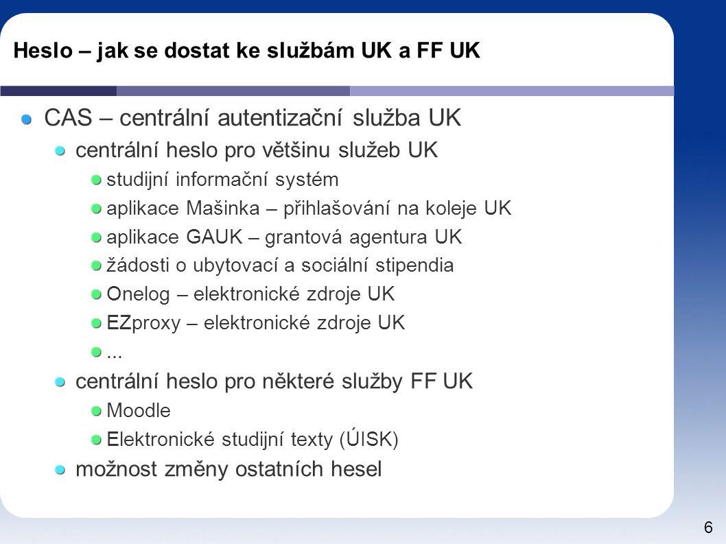37 Onelog portál https://onelog.ruk.cuni.cz/extauth/ldap_login.php http://psychologie.ff.cuni.cz/flash/flash2.htm