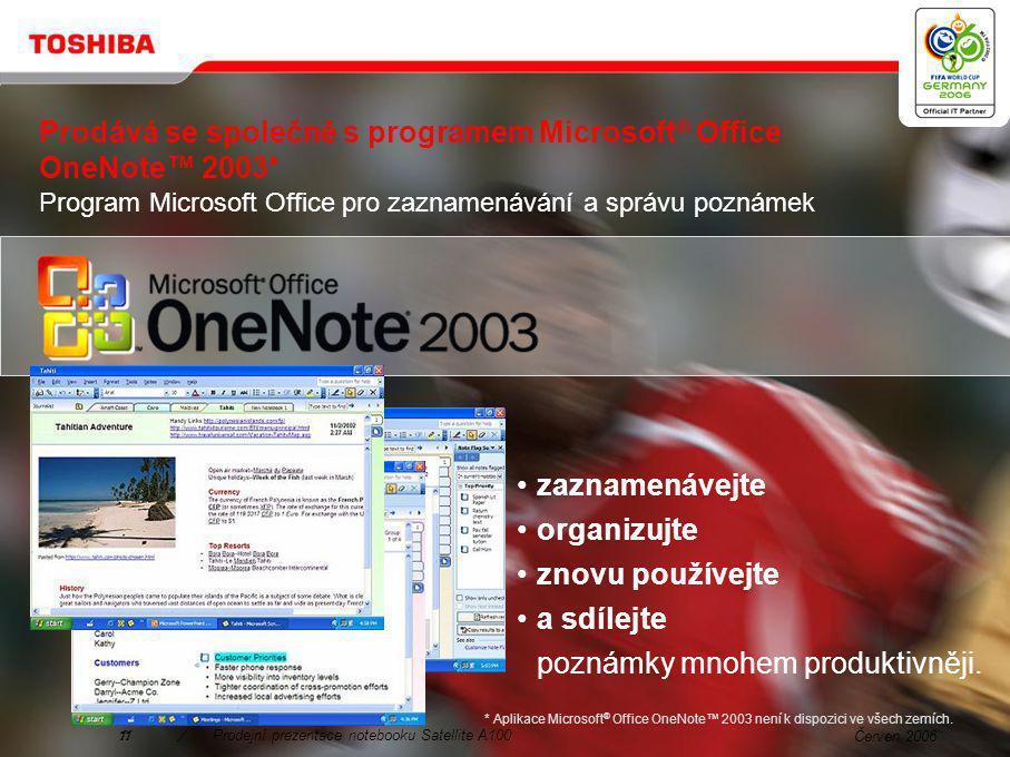 Červen 200610/Prodejní prezentace notebooku Satellite A100 3.