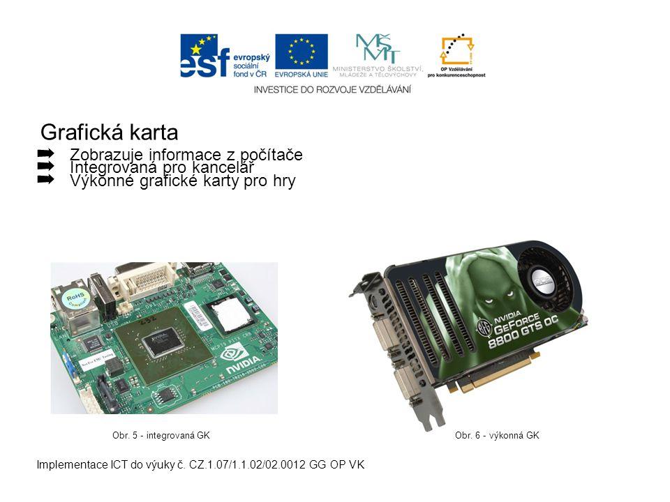 Grafická karta Implementace ICT do výuky č.
