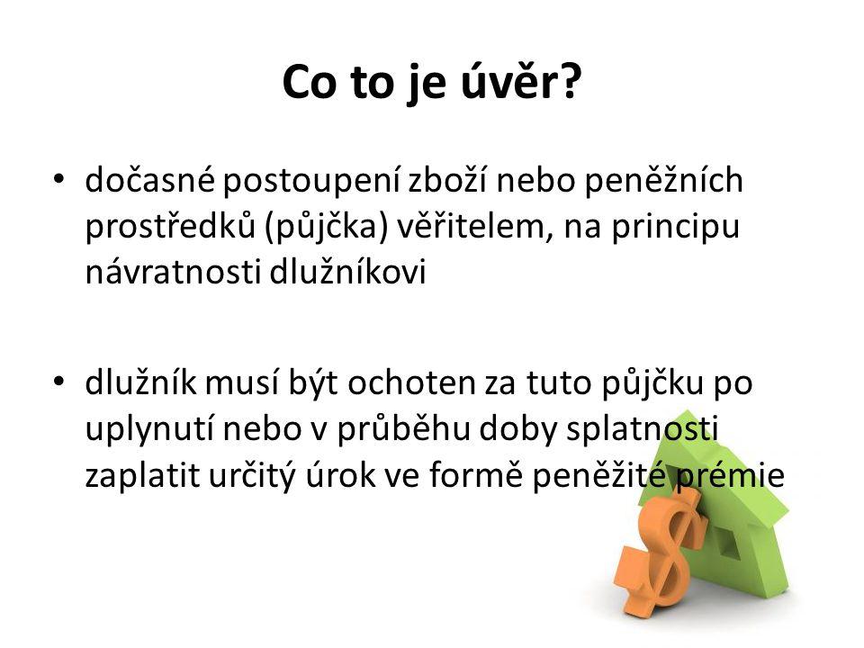 Banka Deficitní jednotky Přebytkové jednotky Jak funguje bankoví trh.